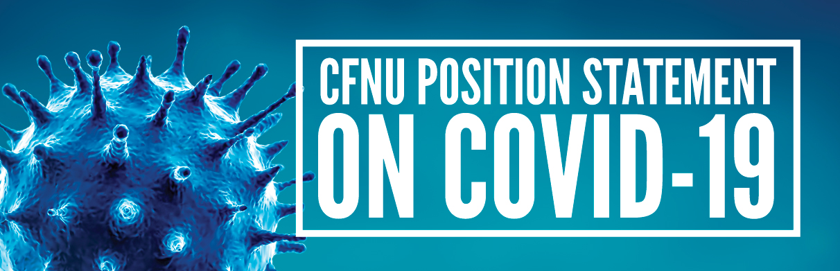 CFNU position statement on COVID-19
